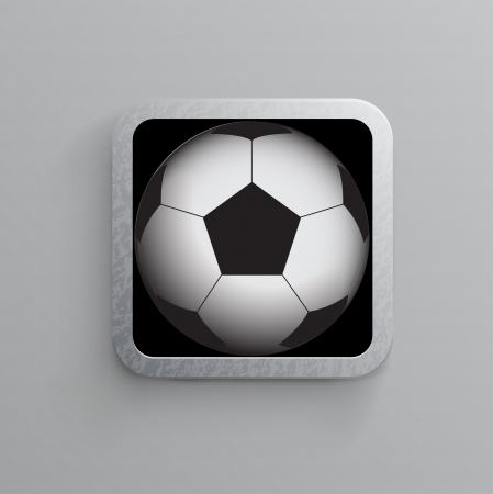 soccer and sports app icon for mobile devices Stock Vector - 15140301