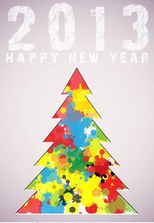 Christmas tree applique vector background  Illustration