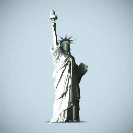 동상: 자유의 여신상 벡터 검은 그림자 실루엣