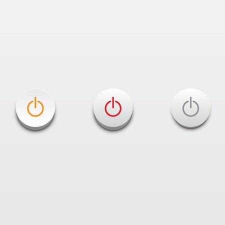 Power buttons ui element in vector Stock Vector - 15140157