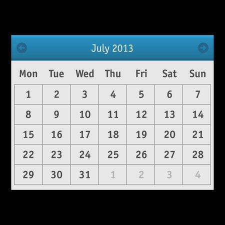 Vector Calendar Stock Vector - 15140150