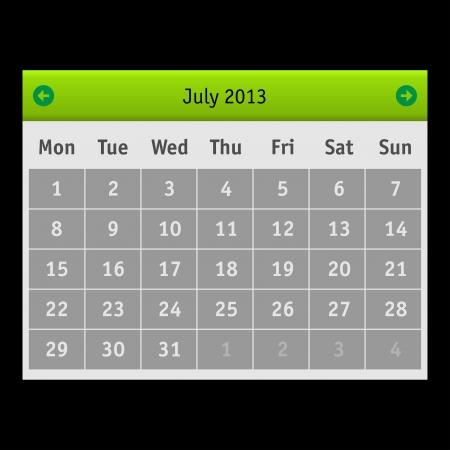Vector Calendar Stock Vector - 15140149