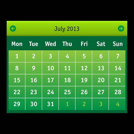 Vector Calendar Stock Vector - 15140152