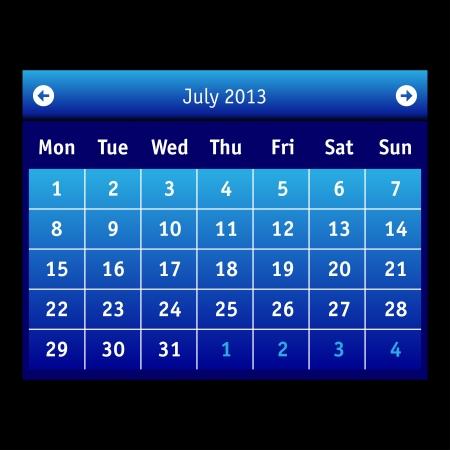 Vector Calendar Stock Vector - 15140153