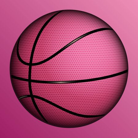 Vector illustration of realistic basketball ball  Stock Vector - 15140302