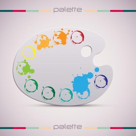 Wooden art palette.  Color illustration. Stock Vector - 15140305