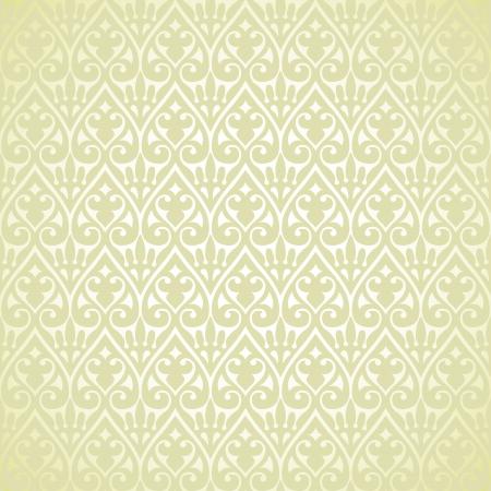Vector vintage baroque border frame card cover flower motif arabic retro pattern ornate lace Illustration