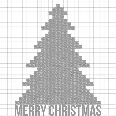 Christmas tree applique vector  background. Postcard Stock Vector - 15500974