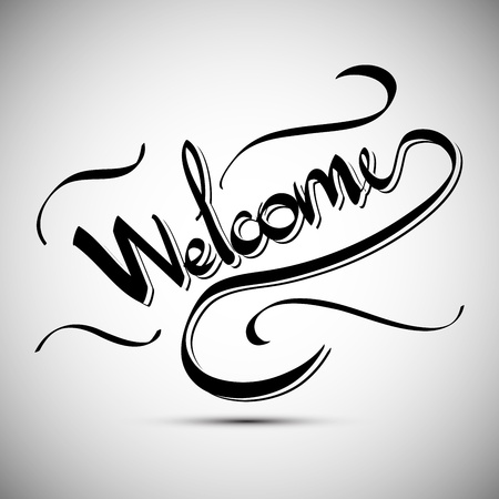 Welcome greetings  hand lettering set (vector) Stock Vector - 15500964