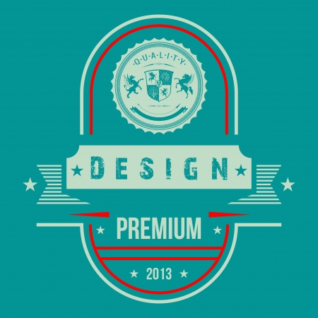 Vintage Web design.  Vector Illustration. Vector