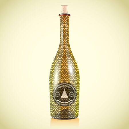 Vector wine bottle. Concept design Stock Vector - 15500976