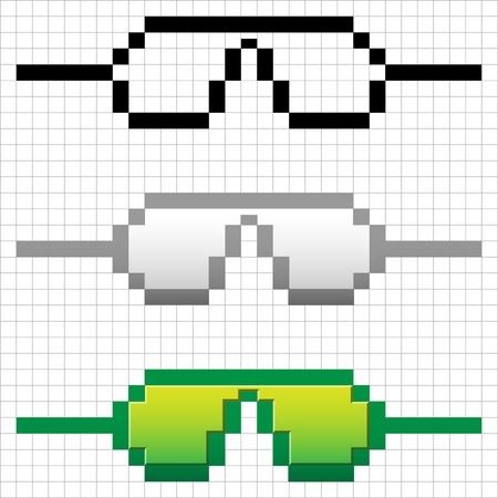 Hipster glasses, Hipsta man. Vector illustration Stock Vector - 15500977