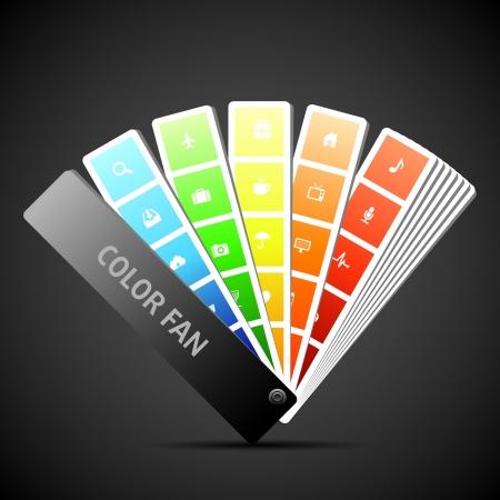 Color fan vector.  Background. Illustration Stock Vector - 15646126