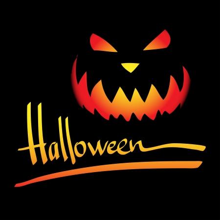 Halloween vector frame. Hand lettering Stock Vector - 15646120