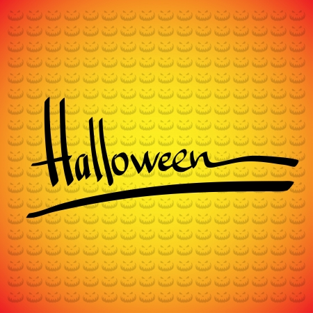 Halloween vector frame. Hand lettering Stock Vector - 15634718