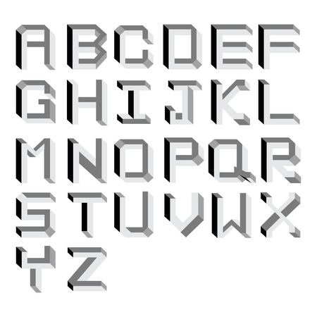 Vector impossible Alphabet   Type Illustration Illustration