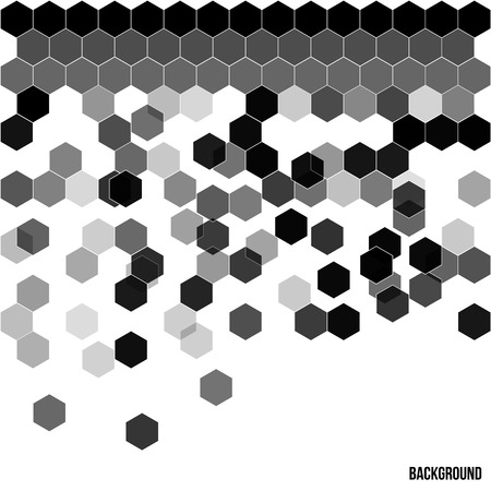 hexahedral: Seamless abstract hexagon background   Vector illustration Illustration