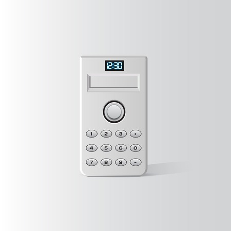 White calculator vector with buttons