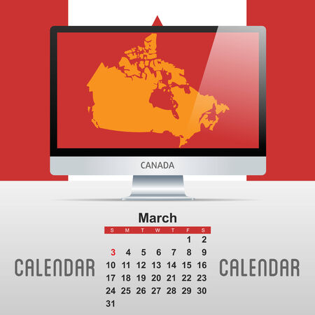 2013 Calendar  Vector Illustration with map of countries Vector