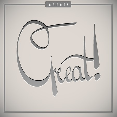 Great greetings  hand lettering set  vector