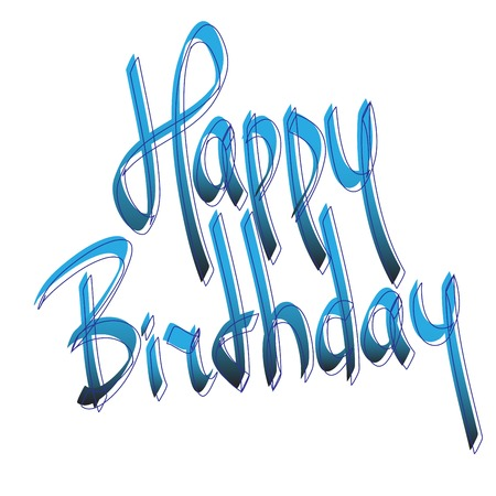 Birthday greetings  hand lettering set  vector  Vector