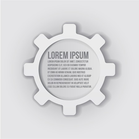 illustration of abstract web design with copy space in cog wheel Illustration