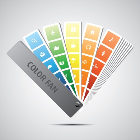 swatch book: Color fan vector  Background  Illustration