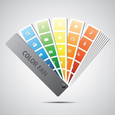 color swatch book: Color fan vector  Background  Illustration