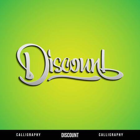 DISCOUNT Vector Lettering  Calligraphy for busines