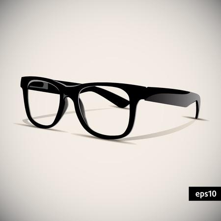 glasses vector  Retro  Background  illustration Vector