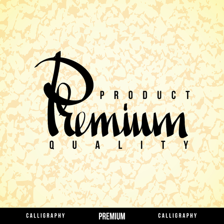 PREMIUM Vector Lettering  Calligraphy for business  Illustration