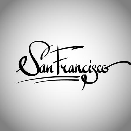 San Francisco 手レタリング - 手作り書道、ベクトル