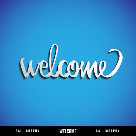 Lettering WELCOME  For themes like Mother