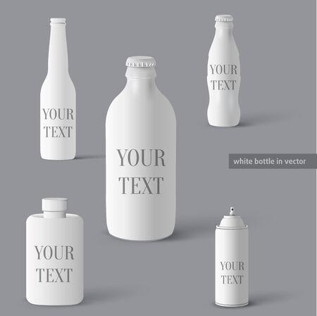 Set of bottles  Vector bottle elements Vector