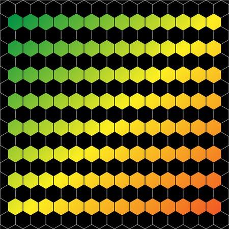 Seamless abstract hexagon background   Vector illustration Illustration