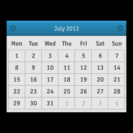 Vector Calendar Interface  Business  Event