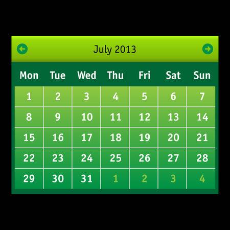 business event: Vector Calendar Interface  Business  Event