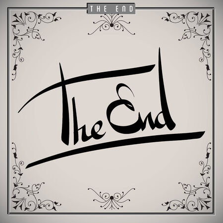 The end greetings  hand lettering set  vector