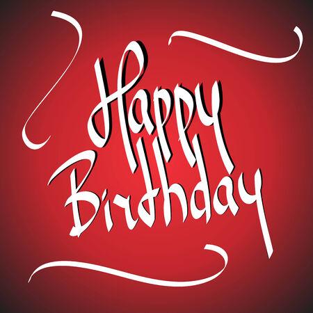Birthday greetings  hand lettering set  vector