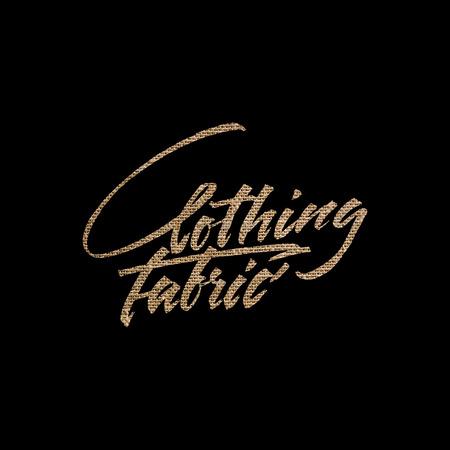 Clothing fabric, vector illustration