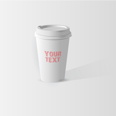 throw away: A coffee cup vector illustration Illustration
