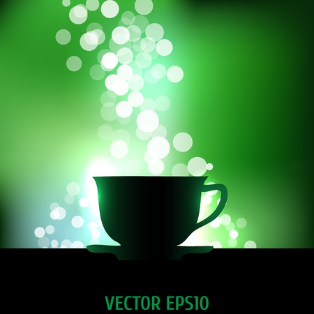 Tea background  Glowing Vector illustration  Illustration