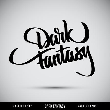 Calligraphic elements -  black design vintage