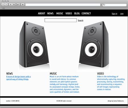 Website vector template -  elegant design Illustration