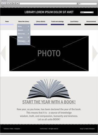 Business template web site  Website vector Illustration