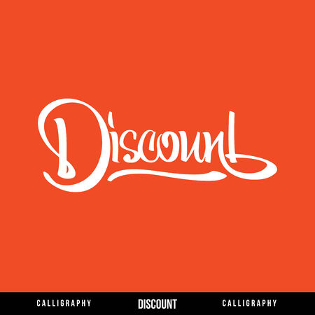upscale: DISCOUNT Vector Lettering  Calligraphy for busines