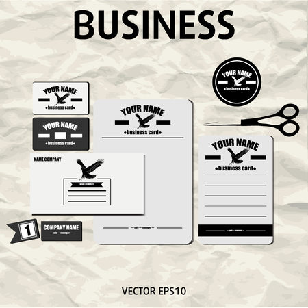 Corporate Identity Template  Vector with gray background