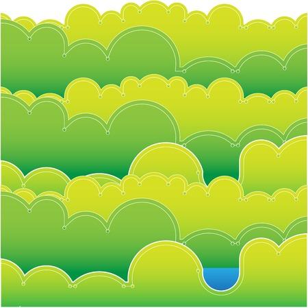 green landscape vector illustration  Background