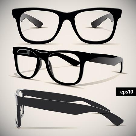 メガネ ベクトル レトロな背景の設定