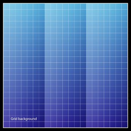 Vector blueprint  Background grid  paper Illustration